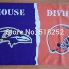 Baltimore Ravens Cleveland Browns House Divided Flag 3x5 FT 150X90CM