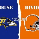 Baltimore Ravens Cleveland Browns House Divided Flag 3ft x 5ft Polyester