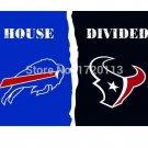 3x5 ft Buffalo Bills VS Houston Texans house divided flag 150x90cm