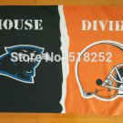 Carolina Panthers Cleveland Browns House Divided Flag 3x5 FT 150X90CM