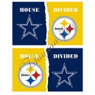 Pittsburgh Steelers vs Dallas Cowboys HOUSE DIVIDED Baseball Large Indoor Outdoor 3 X 5' Custom Flag