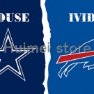 3x5ft Dallas Cowboys vs Buffalo Bills flag house divided flag