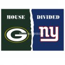 Green Bay Packers vs New York Giants House Divided Rivalry Flag 90x150cm