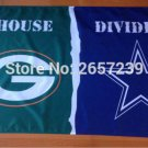 Green Bay Packers Dallas Cowboys House Divided Flag 3x5FT banner 150X90CM