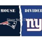 3x5 ft New England Patriots VS New York Giants house divided flag 150x90cm 2 metal grommets