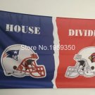 New England Patriots vs Arizona Cardinals House Divided Rivalry Flag 90x150cm