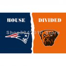 New England Patriots Flag and Cleveland Browns divided  flag 3x5 ft