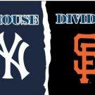 3x5 ft New York Yankees vs San Francisco Giants house divided flag 150x90 cm
