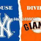 new york yankees and san francisco giants house divided flag 150x90 cm