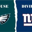 Philadelphia Eagles vs New York Giants House Divided Rivalry Flag 3 x 5 ft