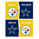 Pittsburgh Steelers With Dallas Cowboys USA House Divided Premium Team Football Flag 3X5FT