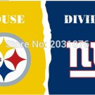 Pittsburgh Steelers vs New York Giants House Divided Rivalry Flag 3 x 5 ft