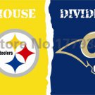 Pittsburgh Steelers St. Louis Rams House Divided Flag 3ft x 5ft Polyester