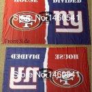 San Francisco 49ers New York Giants House Divided Flag 3ft x 5ft Polyester