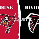 Tampa Bay Buccaneers Atlanta Falcons House Divided Flag 3ft x 5ft Polyester