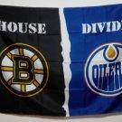 Boston Bruins Edmonton Oilers House Divided Flag hot sell goods 3X5FT
