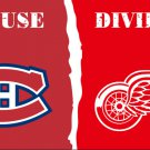 Montreal Canadiens and Detroit Red Wing House Divided flag banner 3X5FT