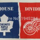 Toronto Maple Leafs Red Wings House Divided Flag Banner New 3x5ft 90x150cm