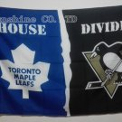 Toronto Maple Leafs Pittsburgh Penguins House Divided Flag hot sell goods 3X5FT