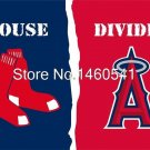 Boston Red Sox Los Angeles Angels of Anaheim House Divided Flag 3ft x 5ft