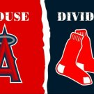 Los Angeles Angels of Anaheim vs Boston Red Sox House Divided Rivalry flag 3ftx5f