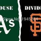 Oakland Athletics San Francisco Giants House Divided Flag Banner Fans Flag New 3x5FT
