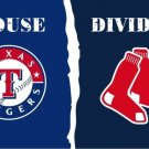 House divided flag of the Texas Rangers and Boston Red Sox3ftx5ft Banner