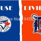 Toronto Blue Jays Detroit Tigers House Divided Flag Banner New 3x5FT