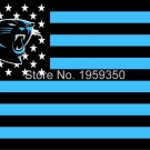 Carolina Panthers Football Team polyester 3' X 5' Flag white sleeve with 2 Metal Grommets