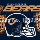 Chicago Bears Helmet Flying Flag Banner flag 3ft x 5ft 100D Polyester 90x150cm