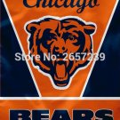 Chicago Bears wordmark top design Vertical Flag 3x5FT