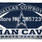 Dallas Cowboys Man Cave Fans Only  Flag 3x5FT banner 100D 150X90CM