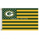 Green Bay Packers Flag USA With Stars and Stripes Flag 3x5 ft