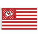 flag kansas city chiefs flag 3ft x 5ft polyester  banner custom flag