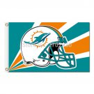 Helmet Design Strip Miami Dolphins Flag Team Champions Fan Banners  Flying 3ft X 5ft