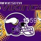 Minnesota Vikings Helmet Flying Flag Banner flag 3ft x 5ft 100D Polyester