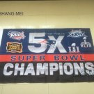 3x5ft New England Patriots 5X Super Bowl Champions flag 90x150cm