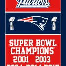 New England Patriots Super Bowl Champion 2017 flag 3FTx5FT