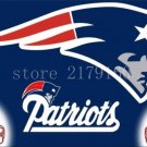 3x5ft double helmets blue grey New England Patriots flying flag with grommets