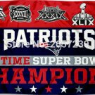 New England Patriots 5 Time Super Bowl Flag 3x5FT NFL banner150X90CM