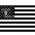 Oakland Raiders US flag with star and stripe 3x5 FT Banner 100D Polyester