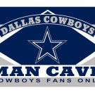Dallas Cowboys Man Cave Fans Flag Banner Size 3x5FT 90x150CM New Polyester,