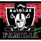 3x5ft promotional hot sale new design Oakland Raiders familia flag with 2 Metal Grommets