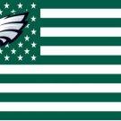 Philadelphia Eagles dark green Flag with Star and Stripe 3ftx5ft Banner