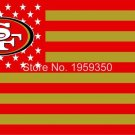 San Francisco 49ers Flag with Star and Stripe 3ftx5ft Banner 100D Polyester