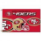 San Francisco 49ers banner Faithful Custom Flag  Premium Team Football Flag 3X5FT