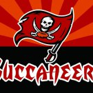Top design Tampa Bay Buccaneers flag 90x150cm polyester banner
