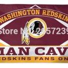 Washington Redskins Man Cave Fans Only NFL Flag 3x5FT banner
