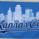 Kansas City Royals MLB City Skyline Baseball Large Outdoor Flag 3ft x 5ft