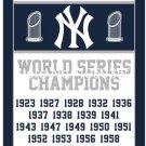 New York Yankees world seres champions flag  3ftx5ft